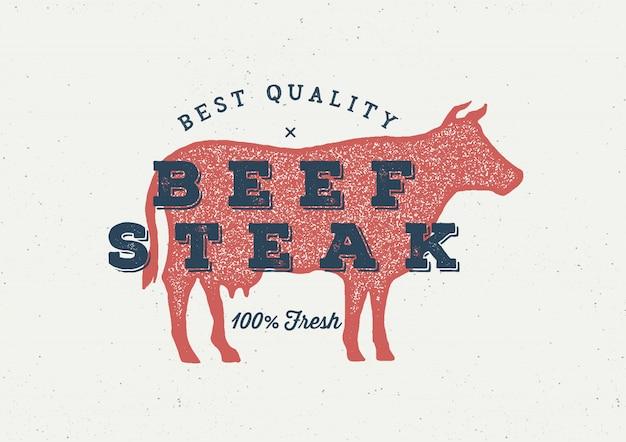 Logo de vache Vecteur Premium
