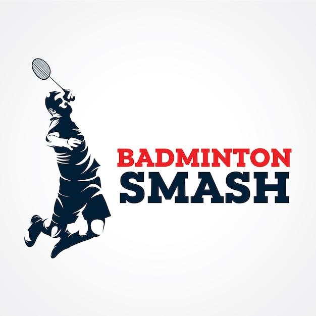 Logo de vecteur de badminton, vecteur de silhouette premium Vecteur Premium