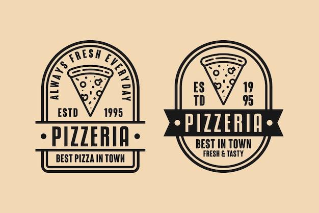 Logo Vintage De Conception De Pizzeria Vecteur Premium
