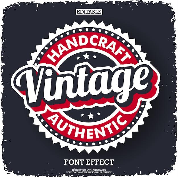 Logo vintage moderne pour label d'entreprise Vecteur Premium