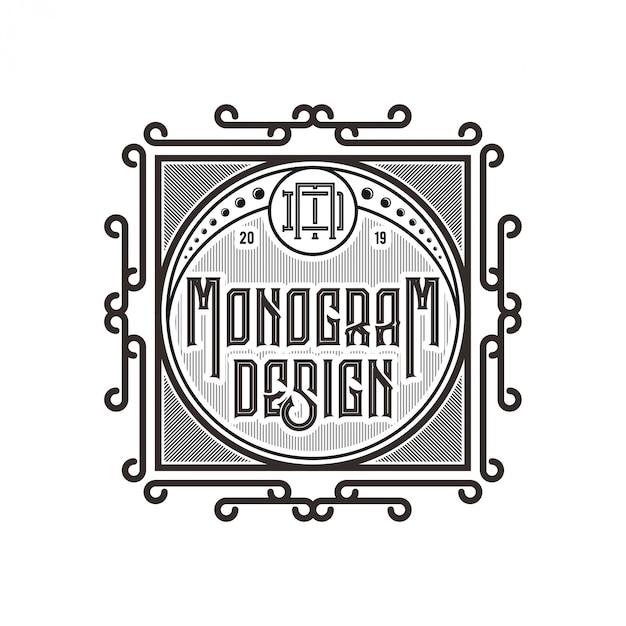 Logo Vintage Pour étiquettes D'aliments Ou De Boissons Vecteur Premium