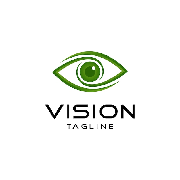 Logo de vision abstraite Vecteur Premium