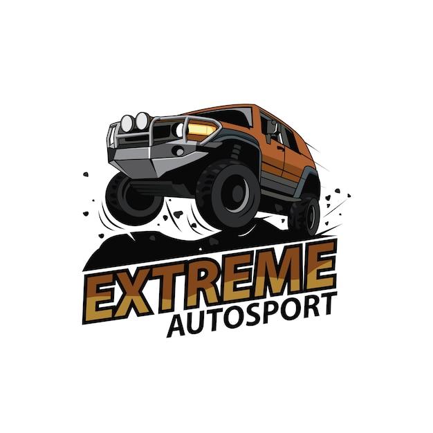 Logo De Voiture Jeep, Sport Extrême Vecteur Premium