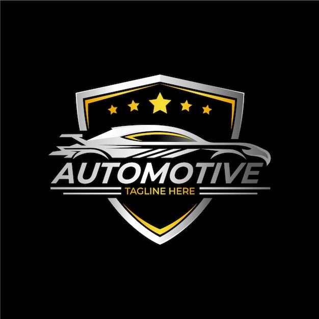 Logo De Voiture Métallique Réaliste Vecteur Premium