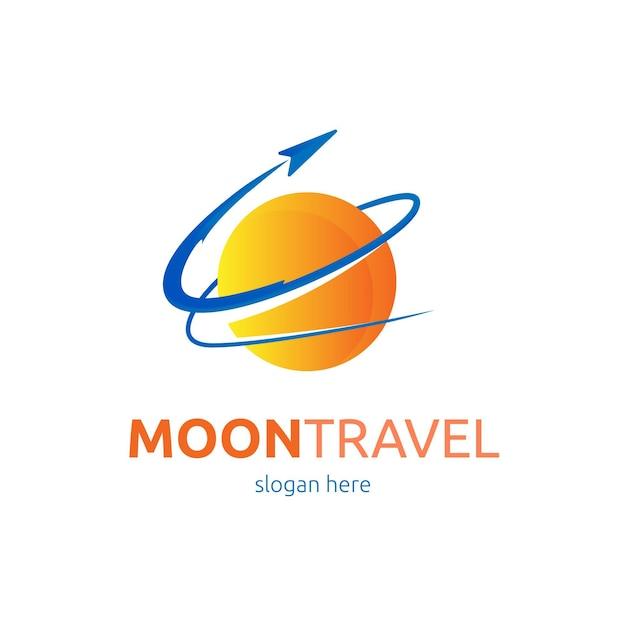 Logo De Voyage Détaillé Avec Espace Réservé à Slogan Vecteur gratuit