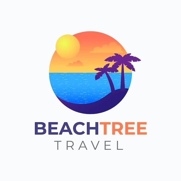 Logo De Voyage Détaillé Vecteur gratuit