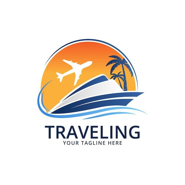 Logo De Voyage Détaillé Vecteur Premium