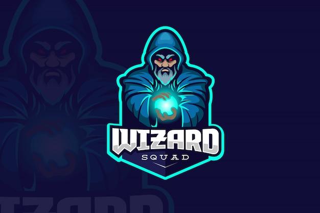 Logo Wizard Esport Vecteur Premium