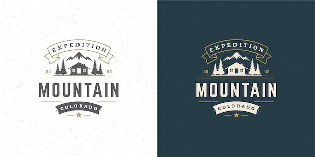 Logos D'aventure Vecteur Premium