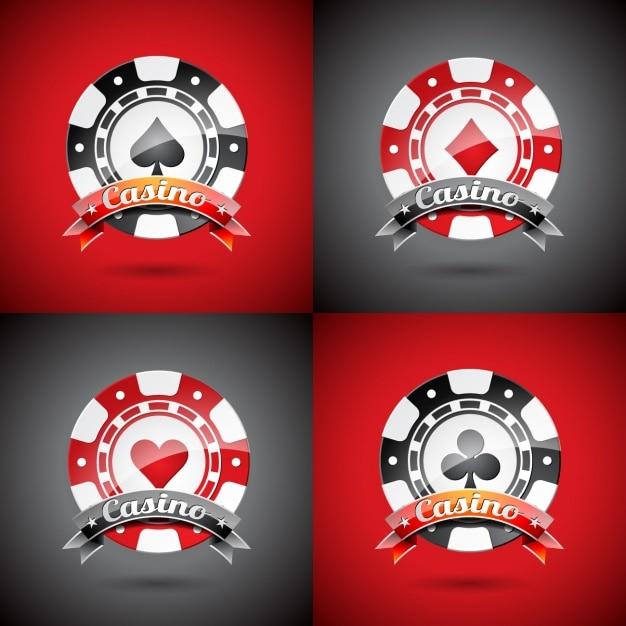 logos Casino modèle Vecteur gratuit