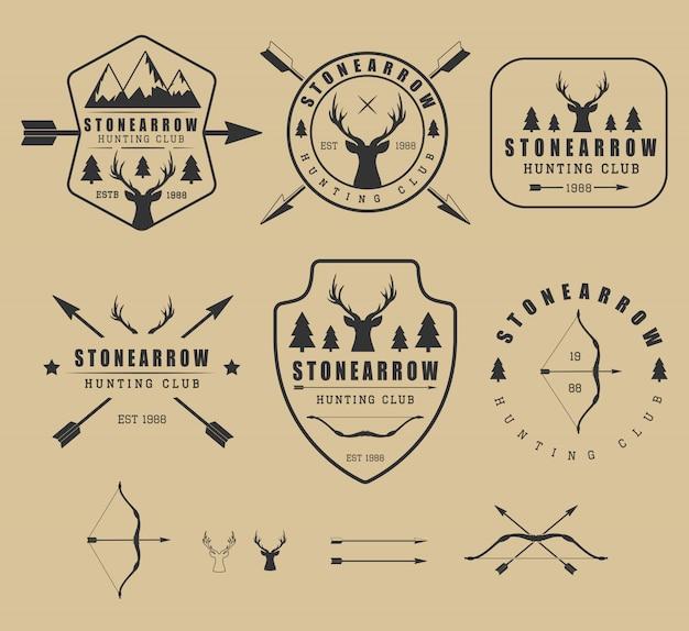 Logos de chasse Vecteur Premium