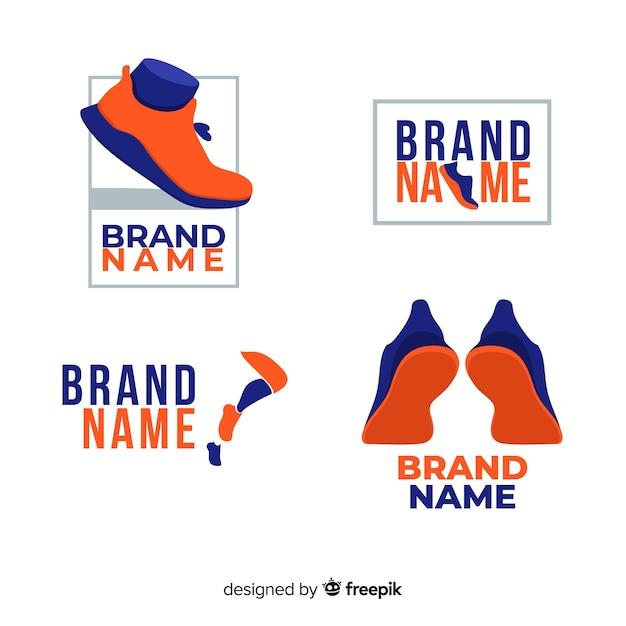 Logos de chaussures de course Vecteur gratuit