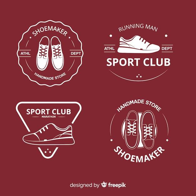 Logos De Chaussures Vecteur Premium