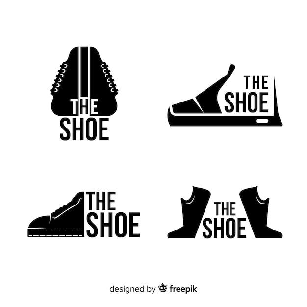 Logos de chaussures Vecteur gratuit