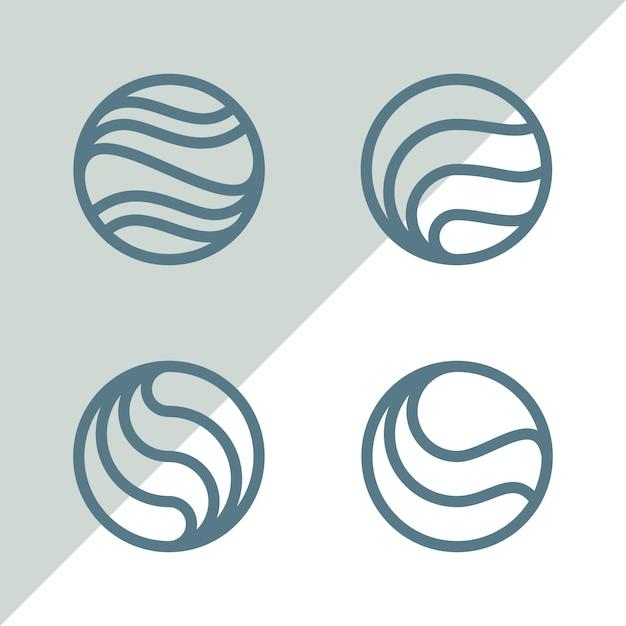 Logos de cicle Vecteur Premium