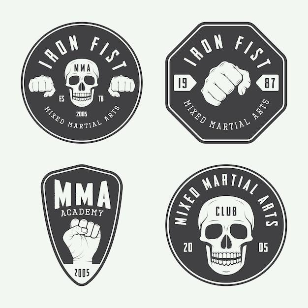 Logos de clubs de combat, emblèmes Vecteur Premium