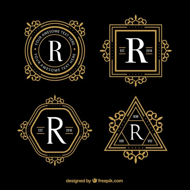 Bien-aimé Logos de luxe géométriques | Télécharger des Vecteurs gratuitement LF51