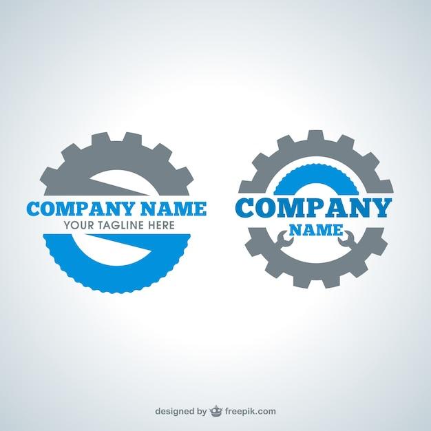 Logos gear Vecteur gratuit