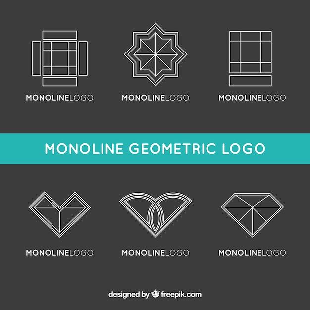 Logos Géométriques En Style Monoline Vecteur gratuit