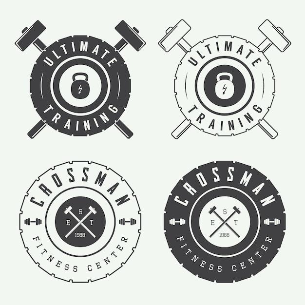 Logos de gymnastique Vecteur Premium