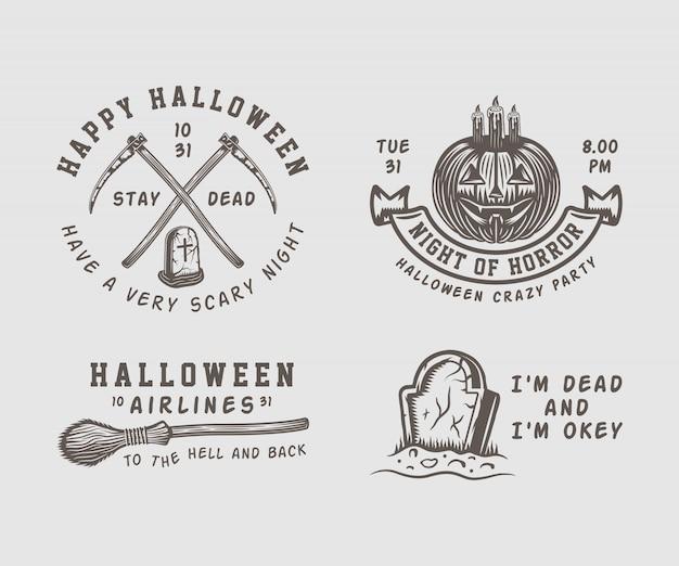 Logos d'halloween Vecteur Premium
