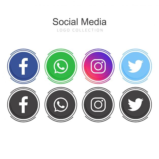 Logos de médias sociaux Vecteur gratuit