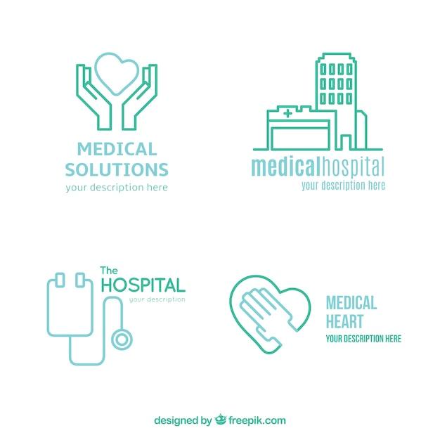 Logos médicale lineal Vecteur gratuit