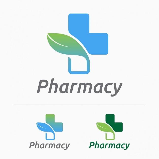 Logos De Pharmacie Mis Vecteur gratuit