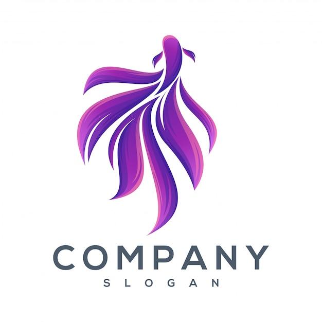 Logos de poissons dansants Vecteur Premium