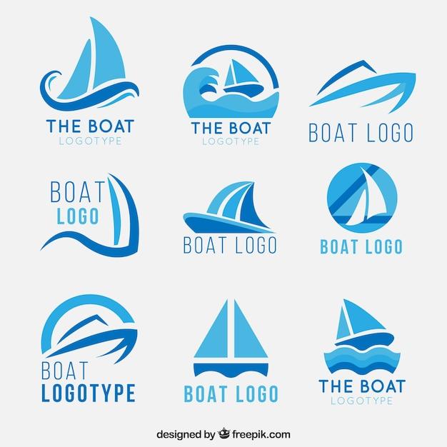Logos pour bateaux Vecteur gratuit