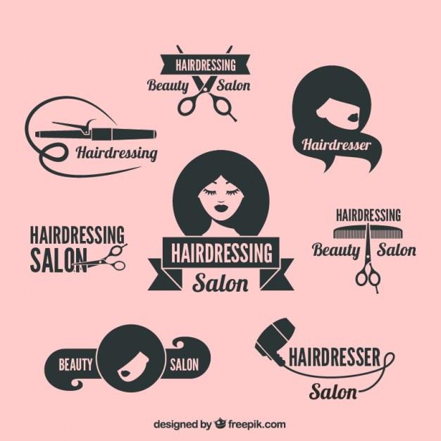 Logos de salon de beauté Vecteur gratuit