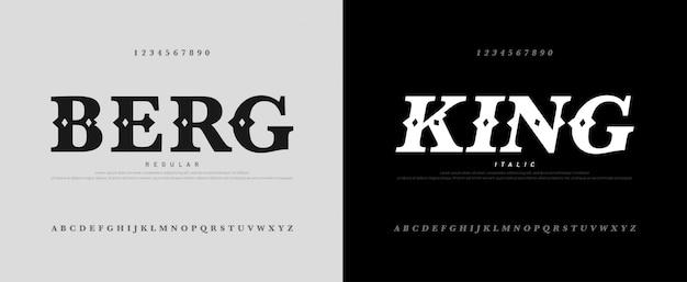 Logotype d'alphabet de luxe classique avec la police royale Vecteur Premium