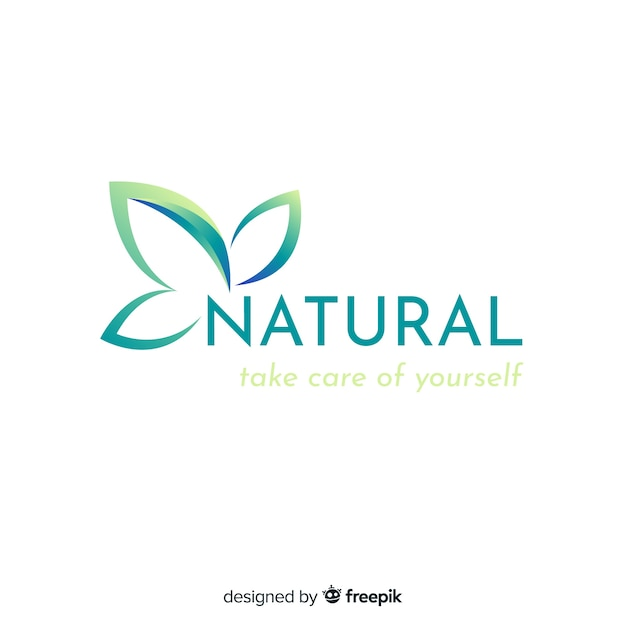 Logotype De Concept Nature Dégradé Plat Vecteur gratuit