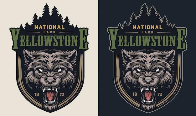 Logotype Vintage De Parc National Coloré Vecteur gratuit