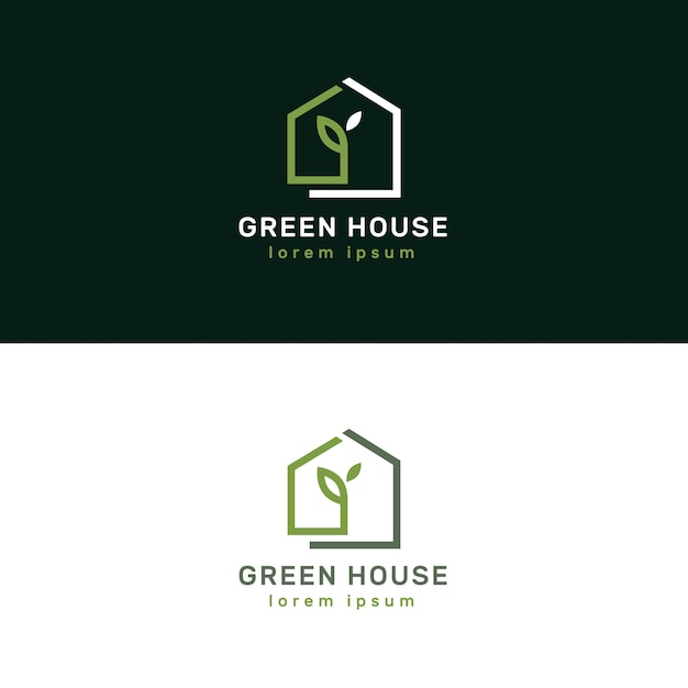 Logotypes immobiliers de luxe et élégants Vecteur Premium