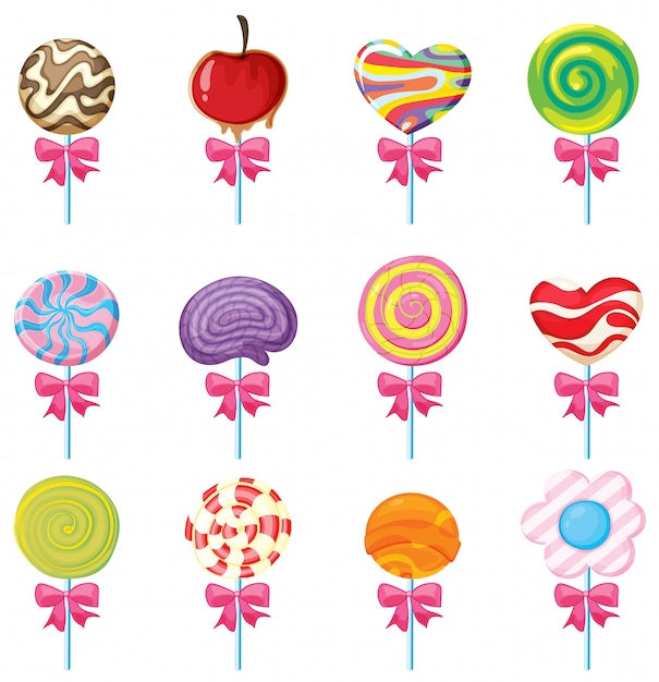 Lollies set Vecteur gratuit