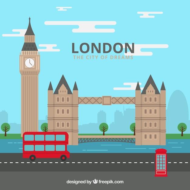 Londres, la ville des rêves Vecteur gratuit