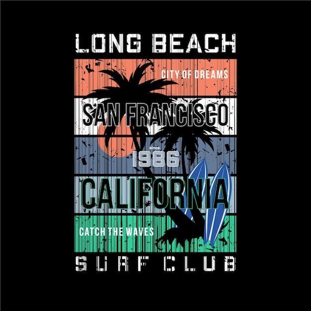 Longue Plage, Club De Surf L'été Vecteur Premium