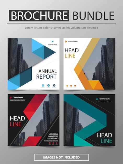 Lot de brochures modèle design moderne Vecteur Premium
