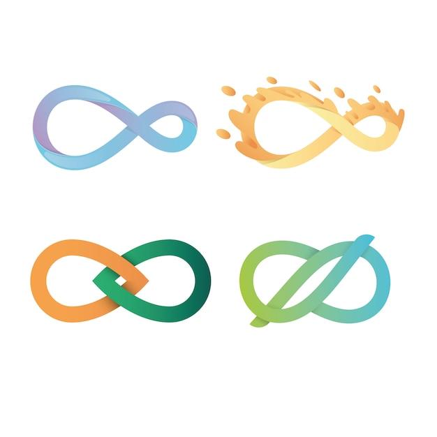 Lot de logos infinity Vecteur Premium