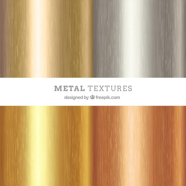 Lot De Texture Métallique Vecteur Premium