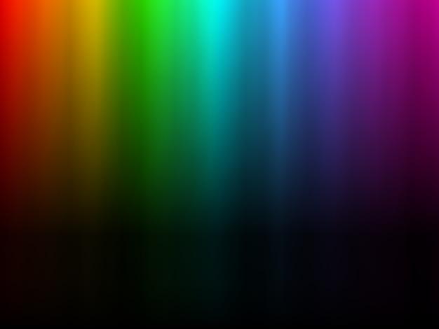 Lumière arc-en-ciel rougeoyante colorée Vecteur Premium