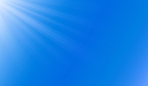 Lumière du soleil sous l'océan bleu Vecteur Premium