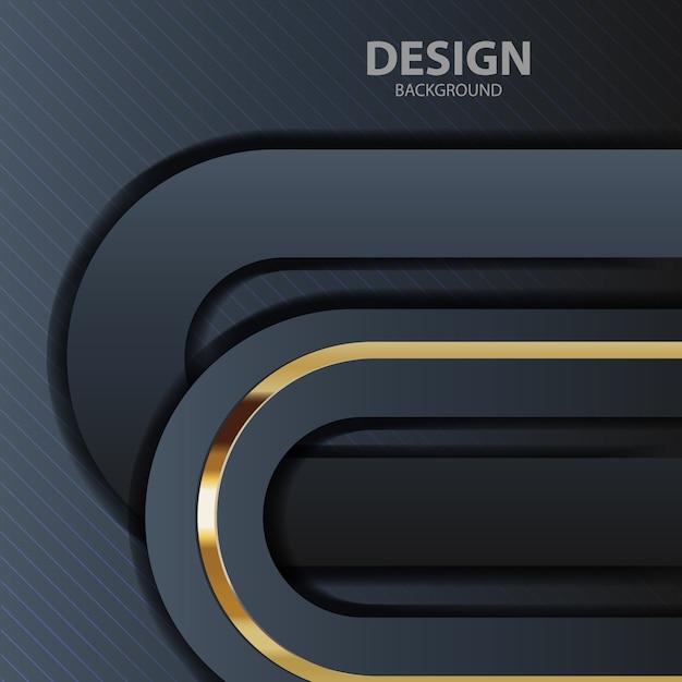 Lumière de fond noir avec la couleur abstraite moderne Vecteur Premium