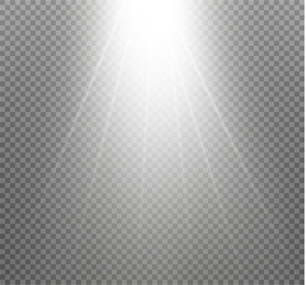 Lumière D'une Lampe Ou D'un Projecteur. Scène éclairée. Vecteur Premium