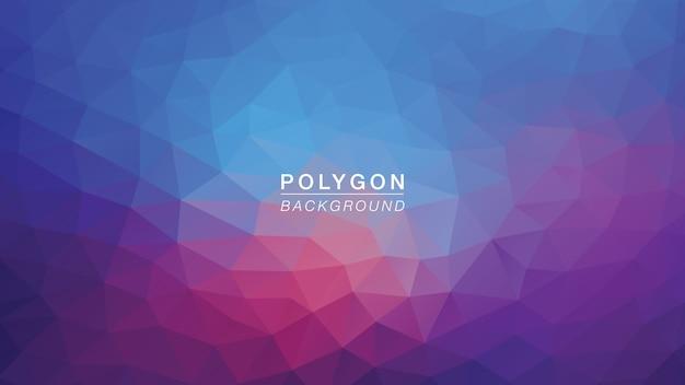 Lumière polygone bleu violet Vecteur Premium