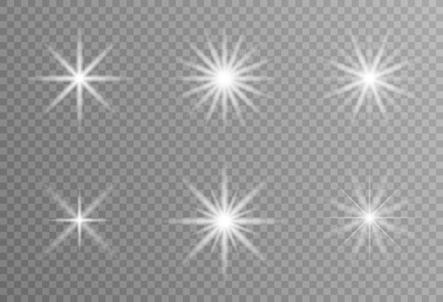 Une Lumière Rougeoyante Blanche Explose Sur Un Fond Transparent Vecteur Premium