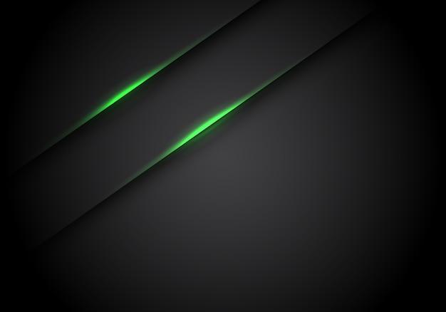 Lumière Verte Ligne Ombre Sur Fond Blanc Espace Noir. Vecteur Premium