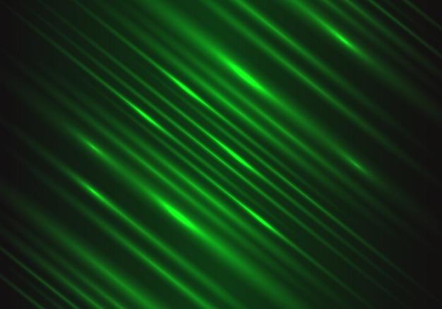 Lumière verte vitesse puissance technologie énergie fond. Vecteur Premium