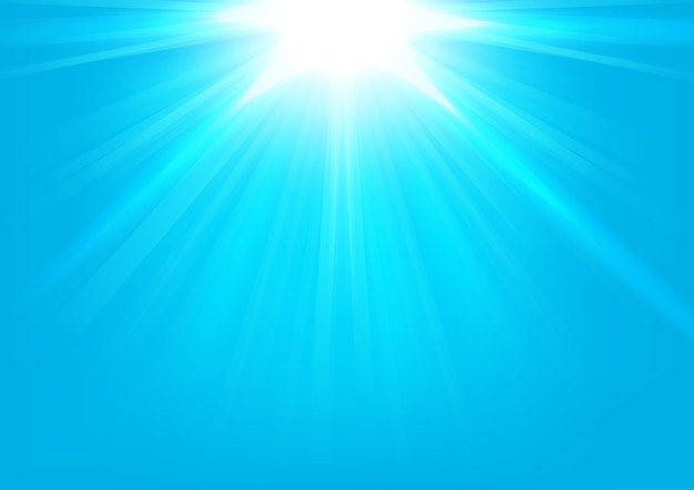 Lumières bleues qui brillent sur fond clair illustration vectorielle Vecteur Premium